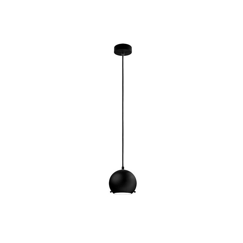 Myoo Mouth Blown Black Opal Glass Hanging Lamp