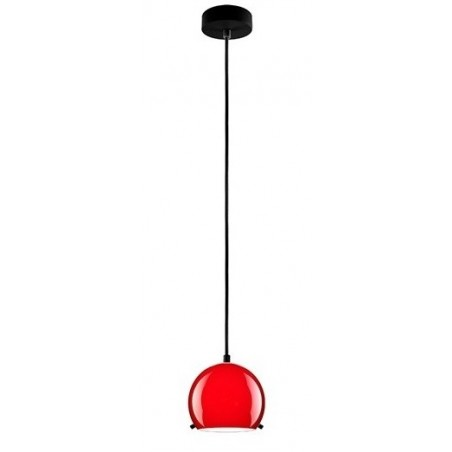 Myoo Red / Black Hanging Lamp - Opal Glass