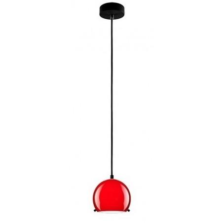 Myoo Red / Black Hanging Lamp - Opal Glass