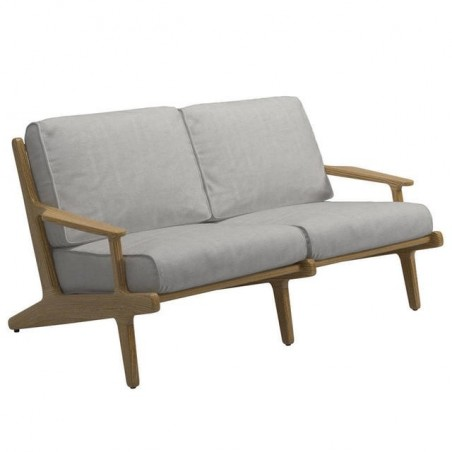Gloster Bay 2 Seater Sofa|Buffed Teak|Seagull|Granite