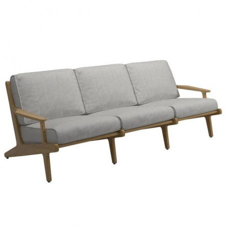 Gloster Bay 3 Seater Sofa|Buffed Teak|Seagull|Granite