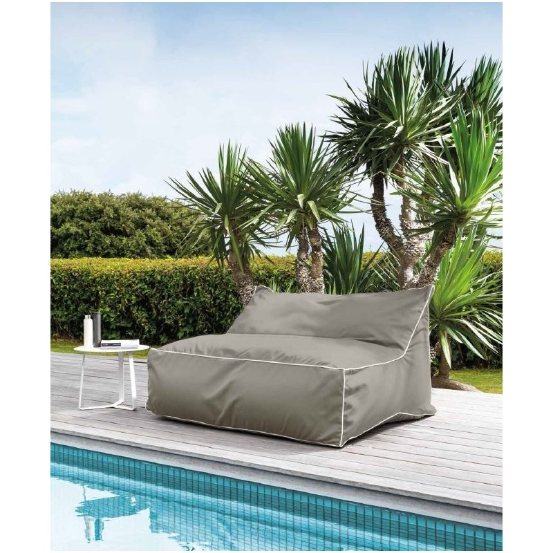 Talenti Lounge Sacco Outdoor Double Beanbag Sunbrella Coated