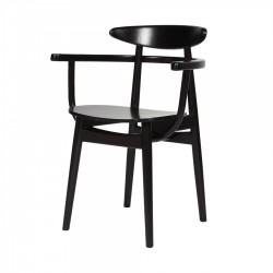 Vincent Sheppard Teo Dining ArmChair| Black