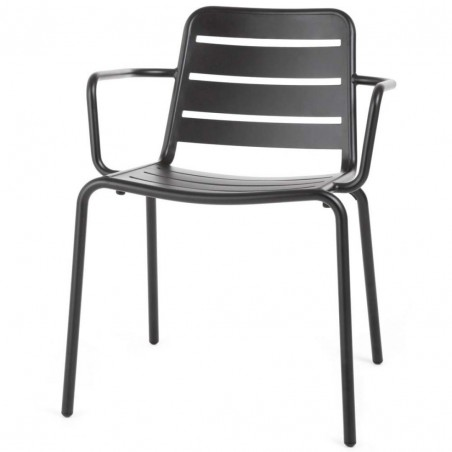 Skyline Design Vega Dining Arm Chair Alu | Aluminium