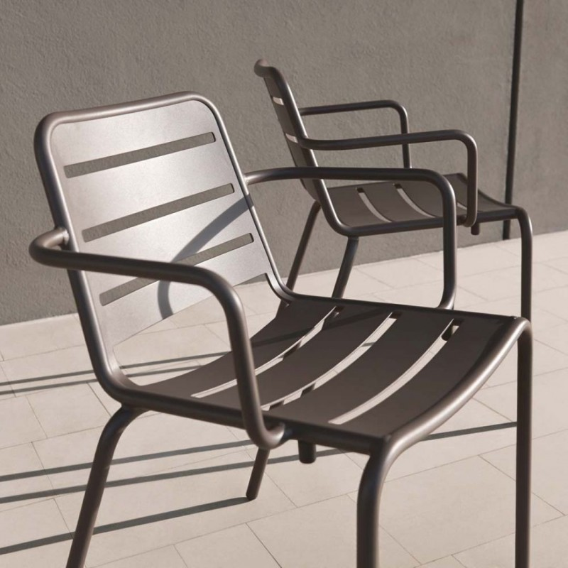 Skyline Design Vega Dining Arm Chair | Aluminium