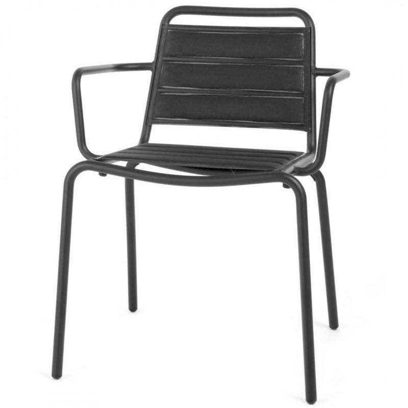 Skyline Design Vega Dining Arm chair Padded | Aluminium