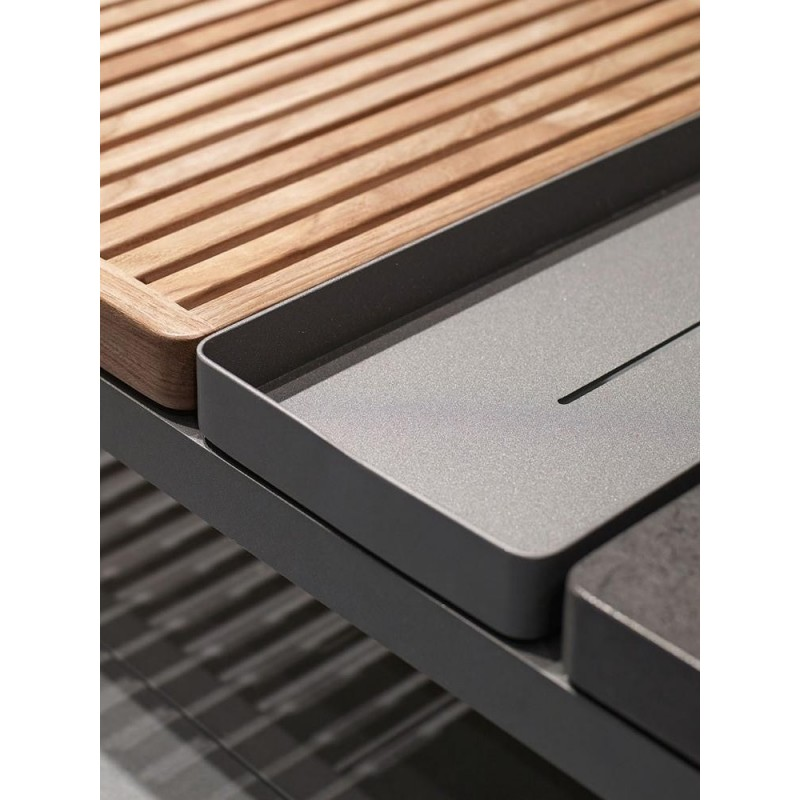 Gloster Grid Coffee Table - Nero Ceramic Top