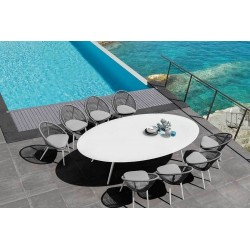 Talenti Rope Dining Set with 290 cm Dining Table   8 Chairs
