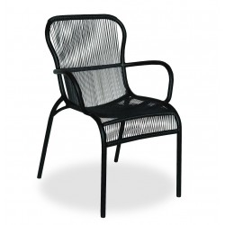 Vincent Sheppard Loop Outdoor Dining Chair| Black