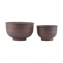 House Doctor Vig Planter in Burnt Henna|Set of 2 Planter Pots