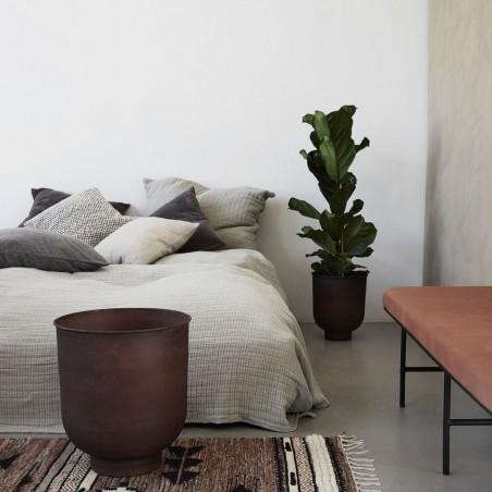 House Doctor Vig Planter Pots in Burnt Henna|Set of 2 Planter Pots