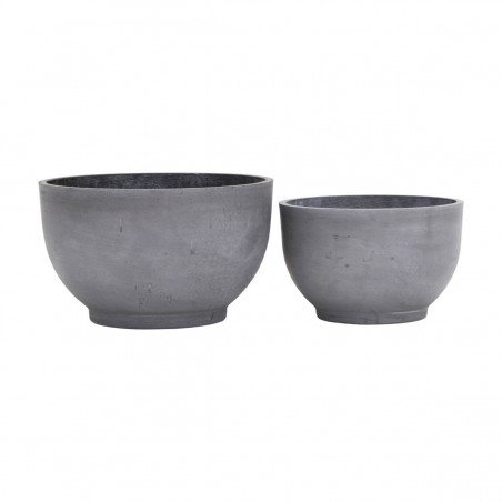 House Doctor Low Planter Gard|Set of 2 Low Planter Pots
