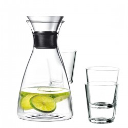 Eva Solo Glass Carafe 1.0 L with 4 glasses