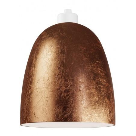 Awa Copper Leaf Mouth Blown Opal Glass Pendant Lamp