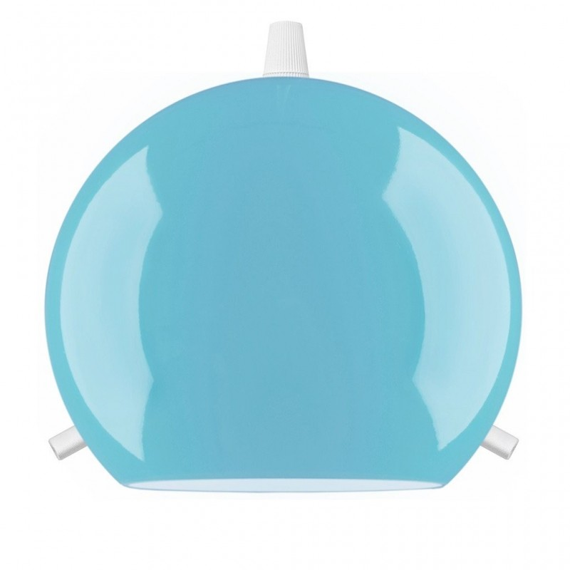 Myoo Mouth Blown Blue Opal Glass Hanging Light