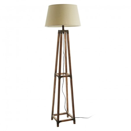 Natural Fir Wood Floor Lamp