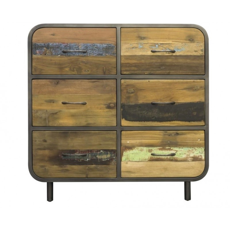 Flotsam Retro Buffet 6 Drawers