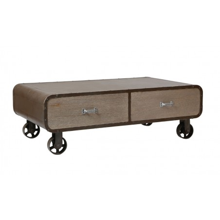 Pittsburgh Industrial 2 Drawers Coffee Table