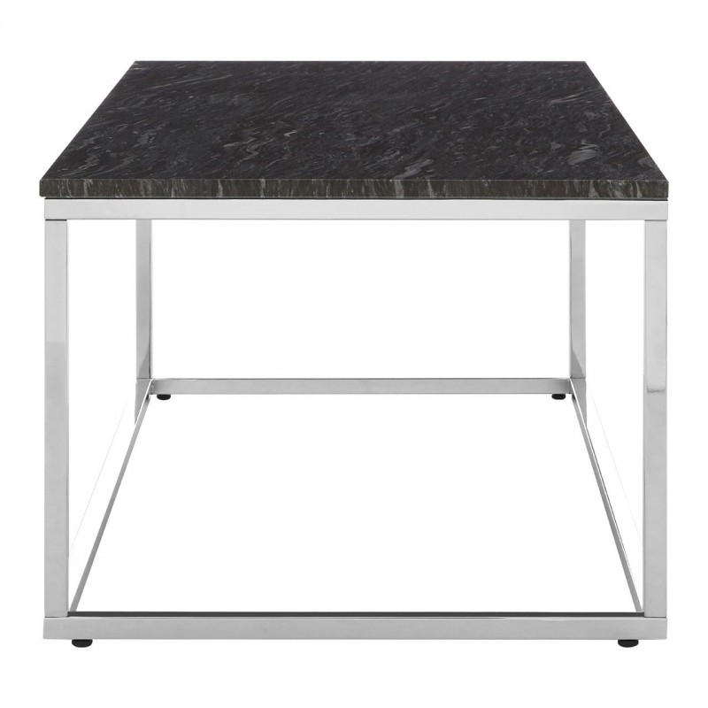 Allure Rectangular Black Marble Coffee Table