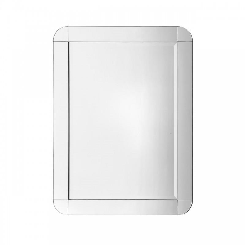 Rectangular Wall Mirror with Round Corners
