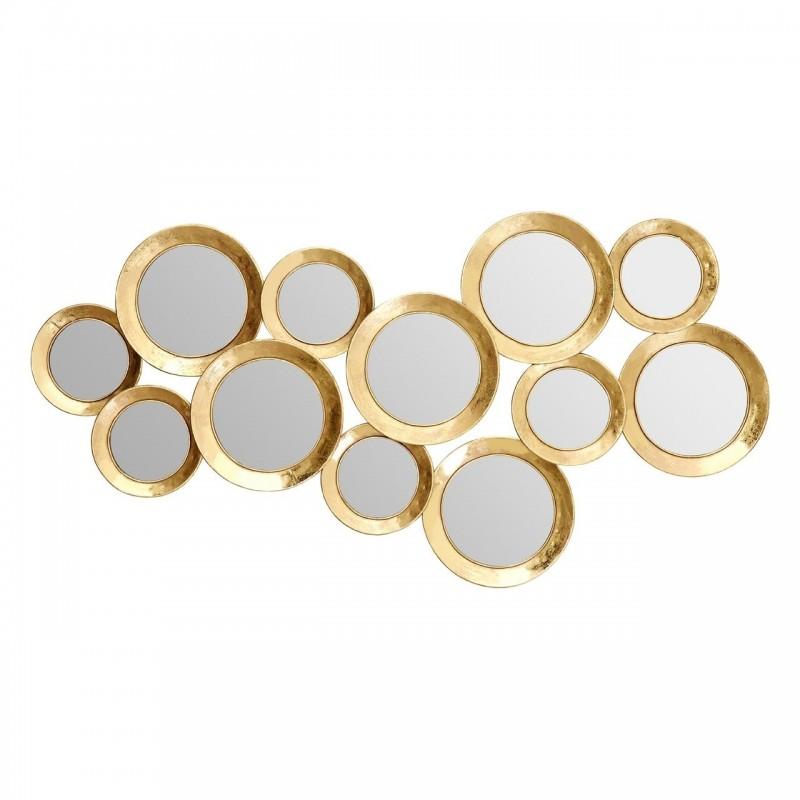 Multi Circle Wall Mirror in Gold Finish