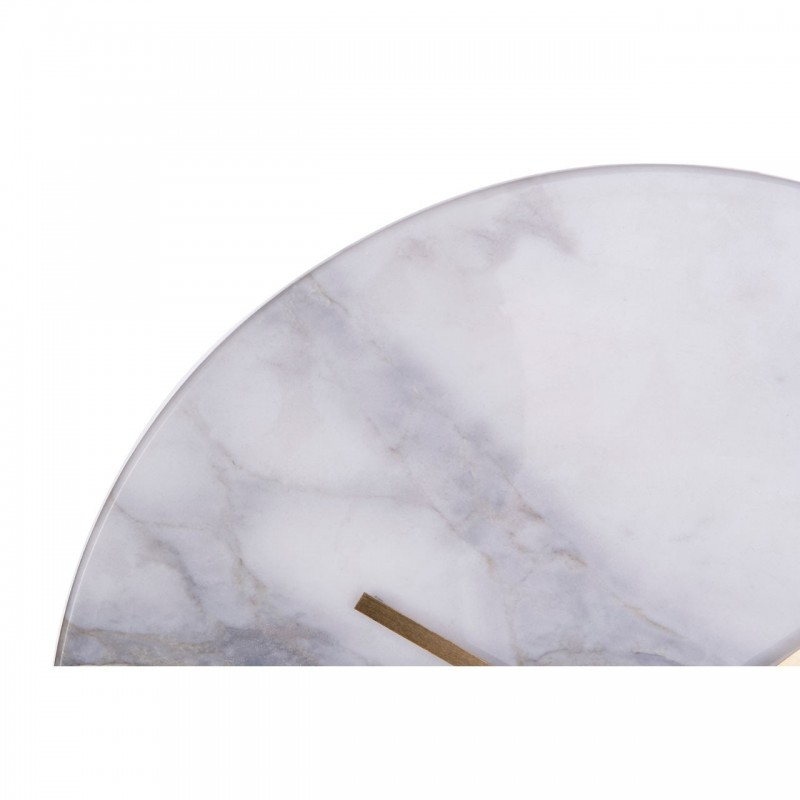 Lamonte Grey Marble Wall Clock