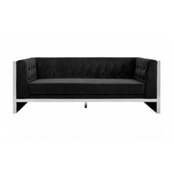 Vogue 3 Seat Sofa in Black Velvet