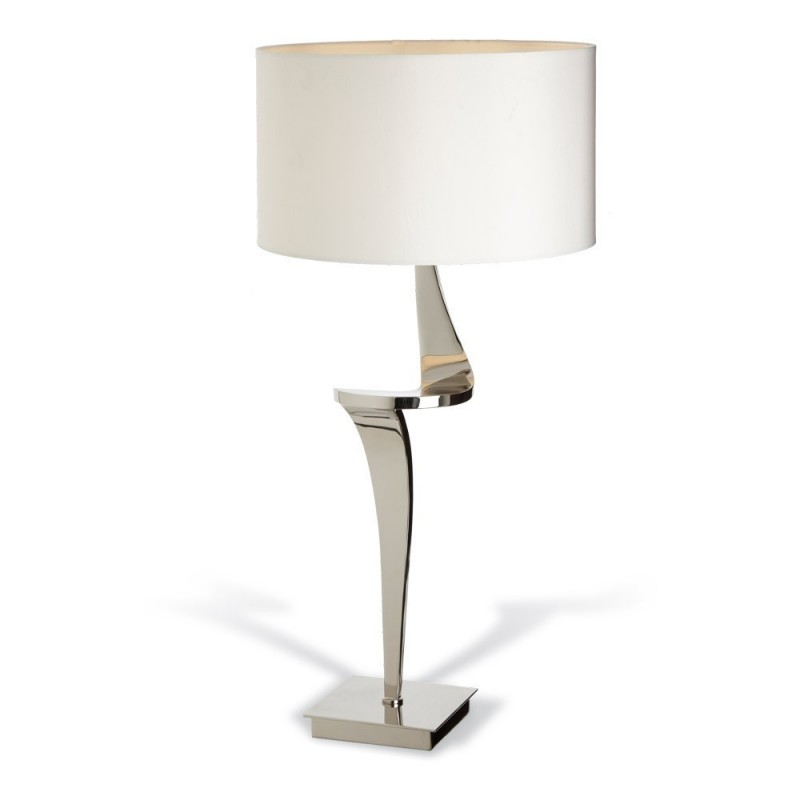 Rv Astley Enzo Nickel Table Lamp Right