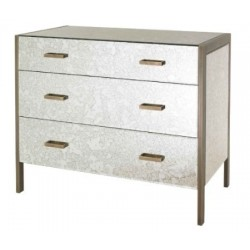 RV Astley Antique Mirror Chest Of Drawers | Brass