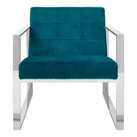 Vogue Teal Velvet Cocktail Chair