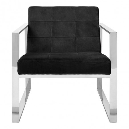Vogue Black Velvet Cocktail Chair