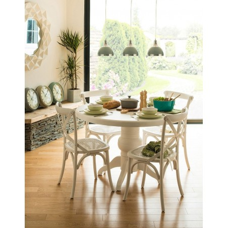 Dining Set in White Washed Wood