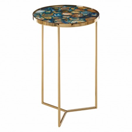 Vita Blue Agate Side Table