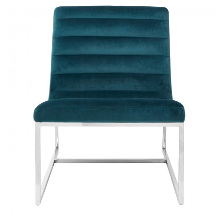 Vogue Teal Velvet Curved Cocktail Chair