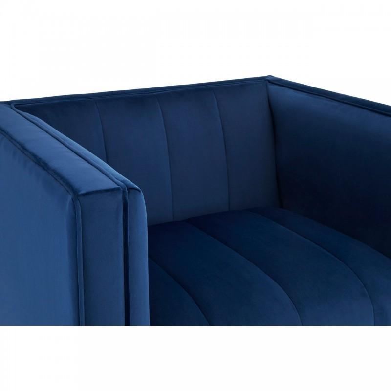 Otylia Deep Blue Velvet Armchair