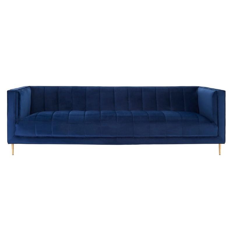 Otylia Deep Blue Velvet 3 Seat Sofa