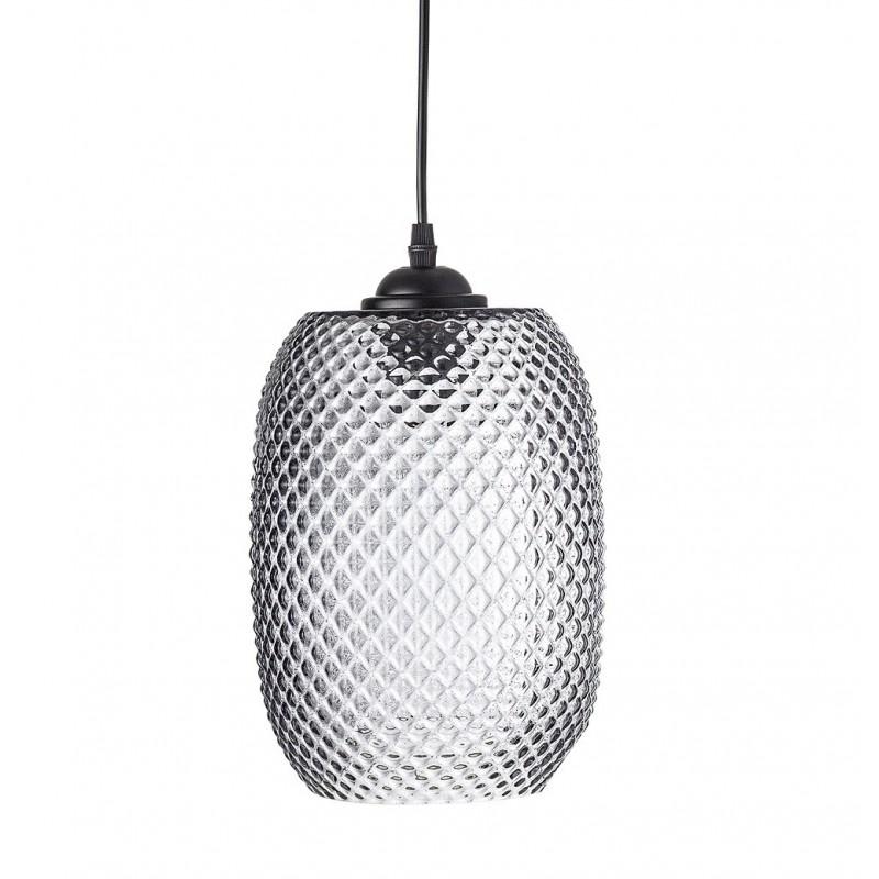 Bloomingville Grey Glass Pendant Lamp