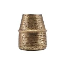 House Doctor Rattan Planter Brass Finish | Oblong Shape