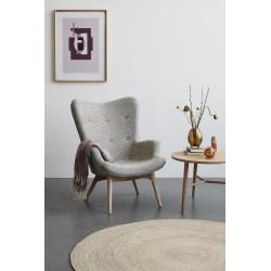 Hubsch Light Grey Danish 2 Seater Sofa