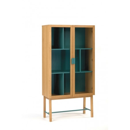 Avon Modern Display Cabinet | Water Blue