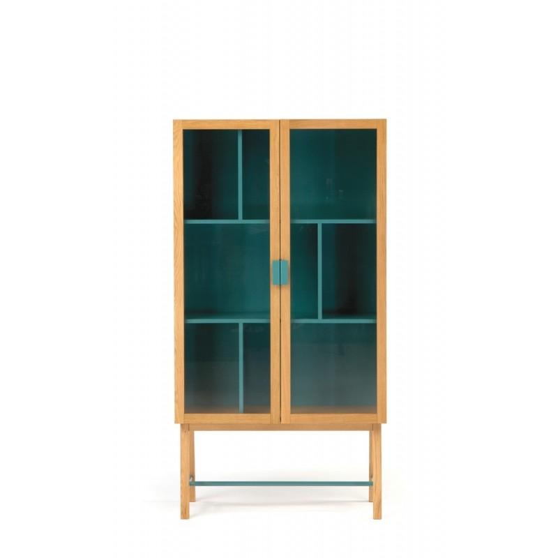 Avon Modern Display Cabinet | Water Blue
