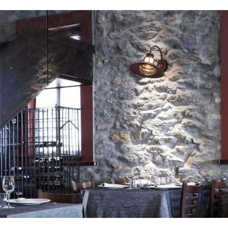 FARO Winch Brown Wall Lamp