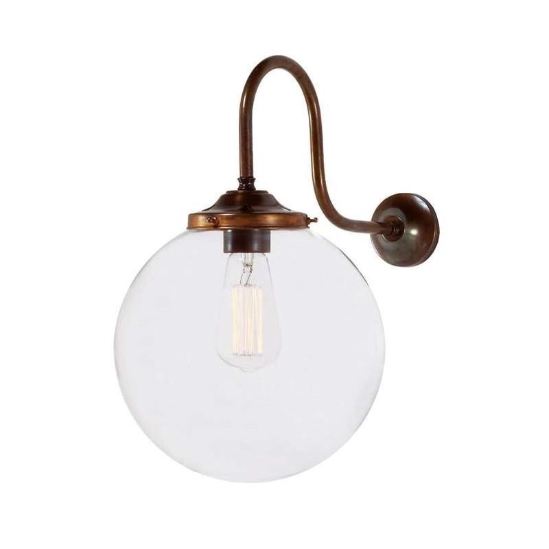 Mullan Lighting Riad Clear Globe Wall Light 25cm
