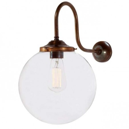 Mullan Lighting Riad Clear Globe Wall Light 25cm