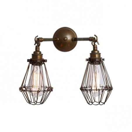 Mullan Lighting Rigo Double Cage Wall Light