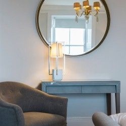 RV Astley Foyle Distressed Gold Leaf Mirror