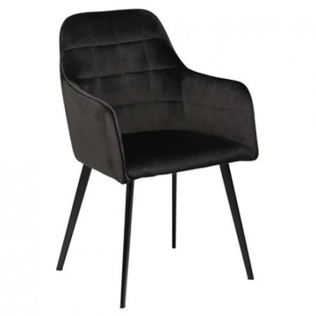 Dan-Form EMBRACE Dining Chair Meteorite Black Velvet