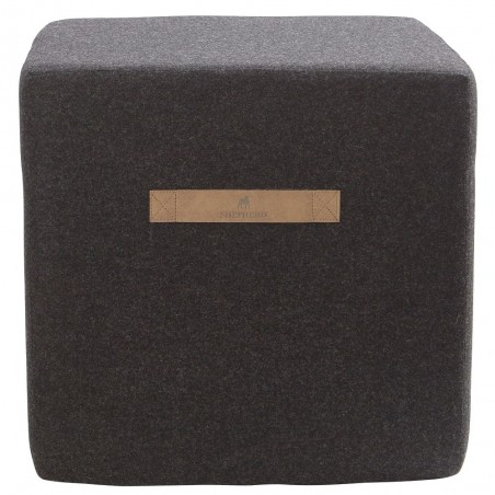 Shepherd of Sweden Anna Black Wool Pouffe
