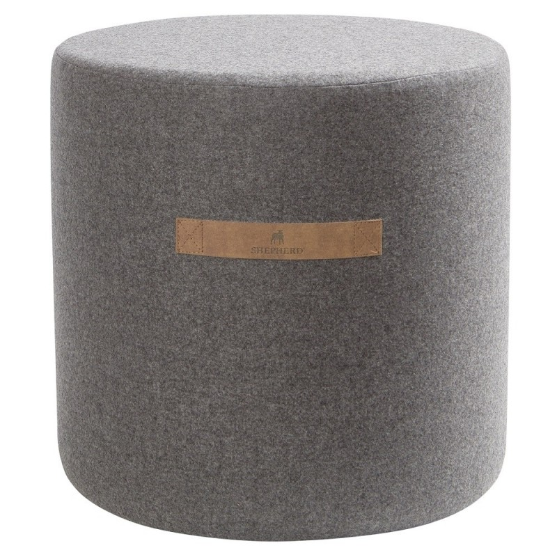 Shepherd of Sweden Sara Granite Wool Pouf | 40 x 40 cm