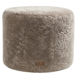 Shepherd of Sweden Frida Round Pouf in Sheepskin